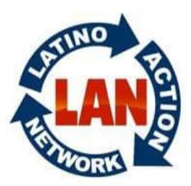 Latino Action Network (LAN) logo red, white, and blue